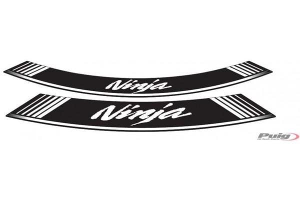NINJA WHT/BLK RIM DECAL SET...