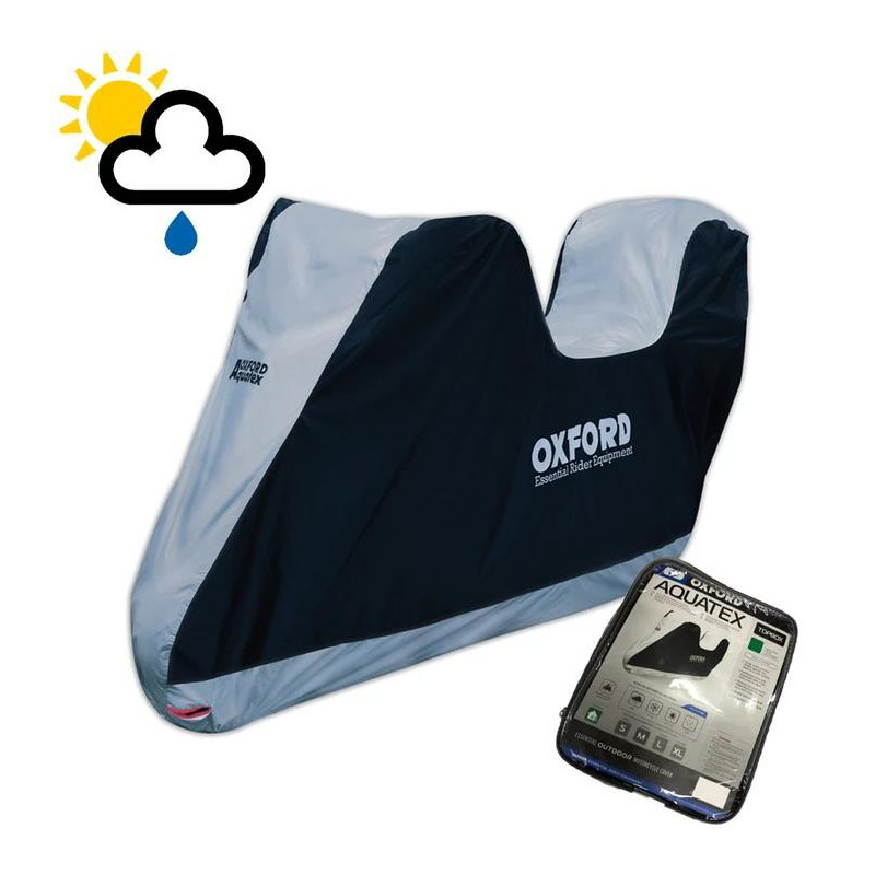 Oxford Aquatex Waterproof Universal Motorcycle Cover XL With Top box