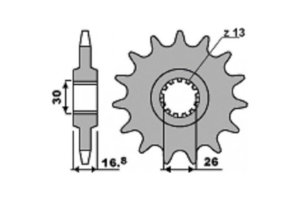 PBR FRONT 347-16 SPROCKET
