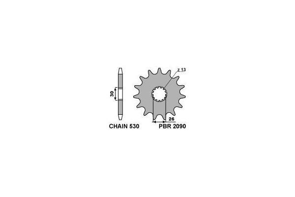 PBR FRONT 2090-17 SPROCKET