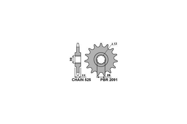 PBR FRONT 2091-15 SPROCKET