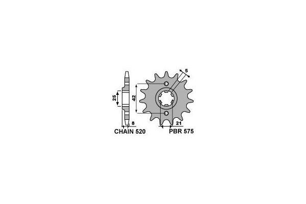 PBR FRONT 0575-15 SPROCKETS