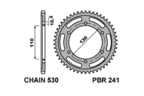 PBR REAR 241-42 SPROCKETS