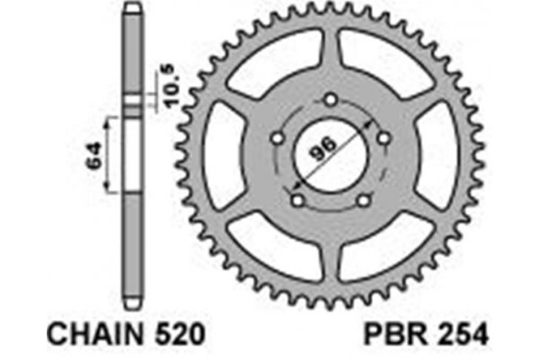 PBR REAR 254-37 SPROCKET