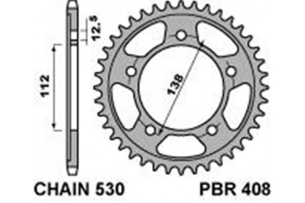 PBR REAR 408-44 SPROCKETS