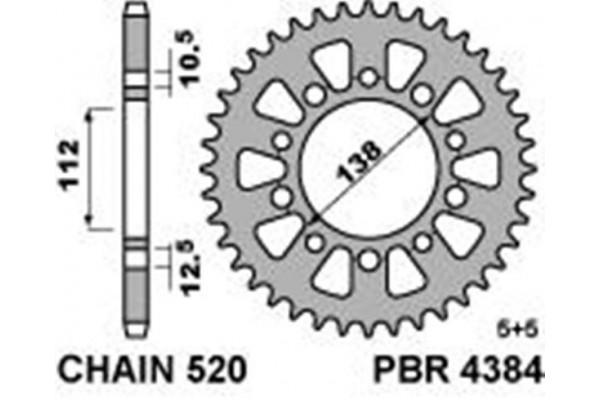 PBR REAR 4384-46 SPROCKET