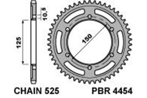 PBR REAR 4454-42 SPROCKET