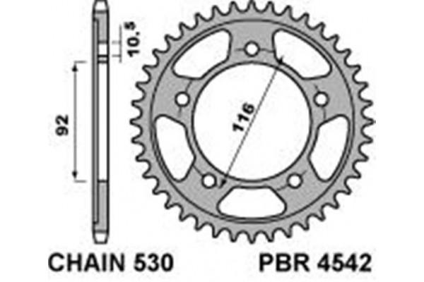 PBR REAR 4542-42 SPROCKET