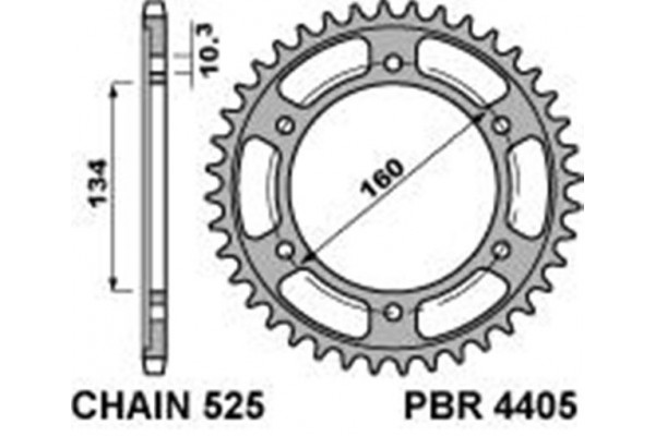 PBR REAR 4405-45 SPROCKETS