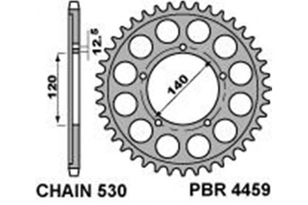 PBR REAR 4459-41 SPROCKETS