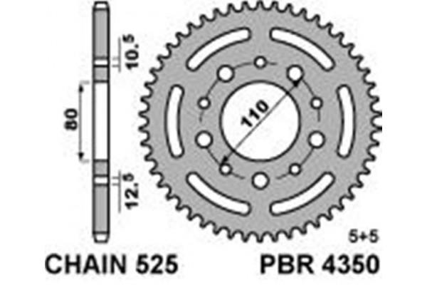 PBR REAR 4350-38 SPROCKET