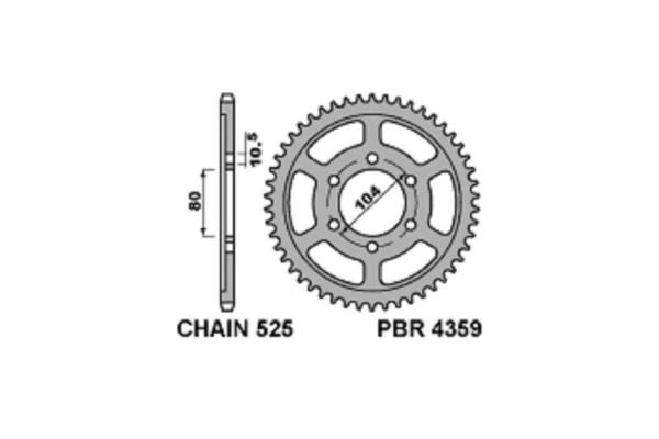 PBR REAR 4359-40 SPROCKET