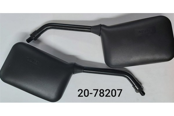 EMGO MIRROR ASSSY BLACK SQUARE