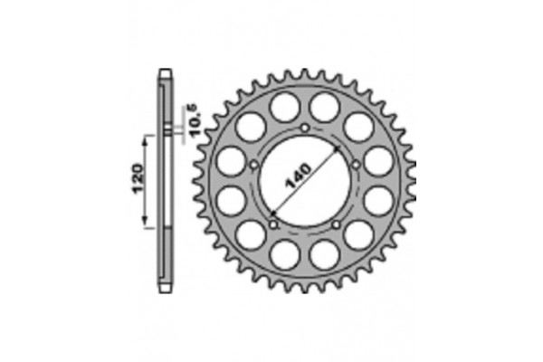 PBR REAR 4409-42 SPROCKET