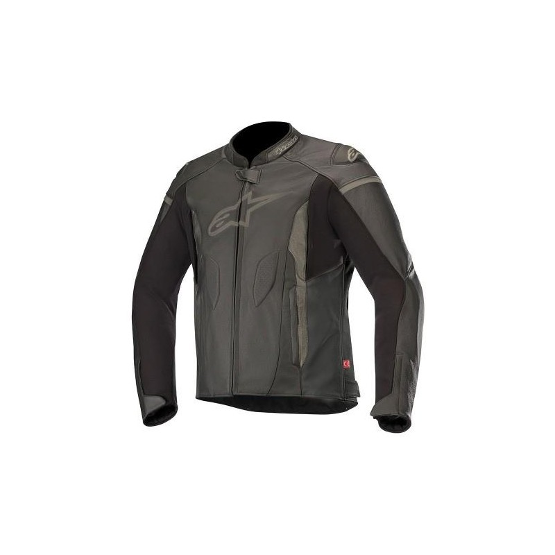 ALPINESTARS FASTER LEATHER JACKET BLACK