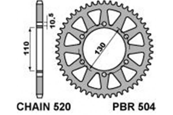 PBR 504-42T REAR SPROCKETS