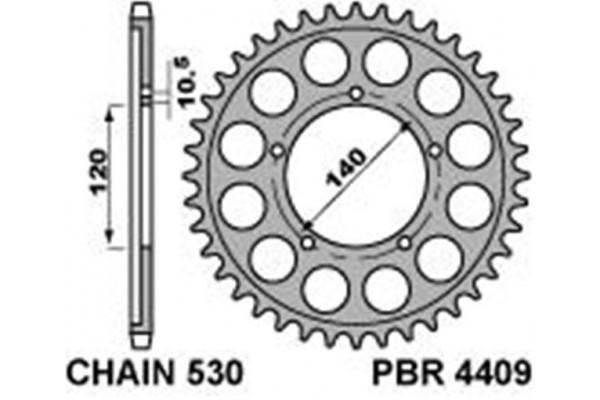 PBR REAR 4409-41 SPROCKET